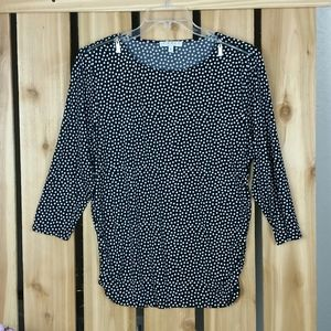 Chaus New York Polka Dot Blouse XL